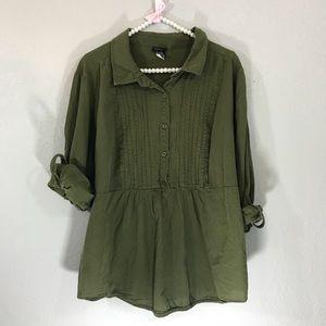 Torrid army green top
